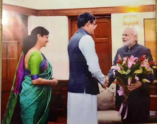 Joy Panda greets Modi