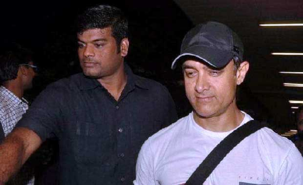 Aamir Khan with bodyguard
